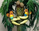 baby monkeys made from bananas and oranges