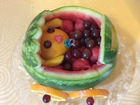melon baby carriage by mabel