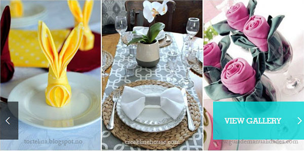 napkin folding featured on Country Living