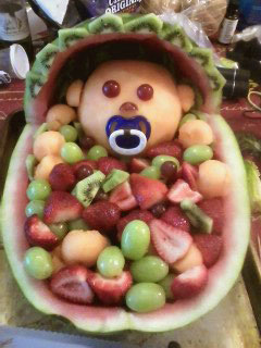 Watermelon Baby Carriage - Fancy Variations on Nita\'s Blog