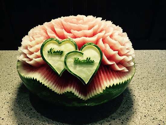 Watermelon art for weddings nita s fruit veggy carving