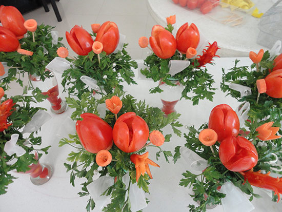 vegetable wedding centerpiece ideas