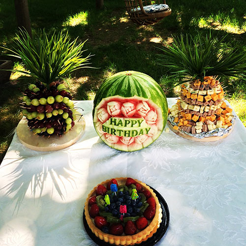 birthday watermelon carving by Wilma Silva