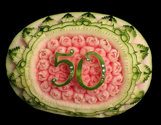 50th birthday watermelon by Svetlana