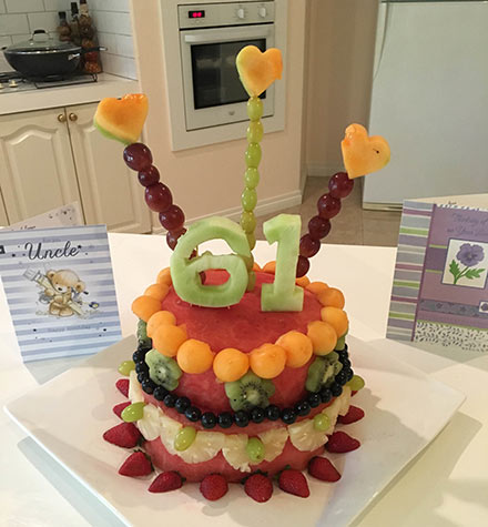 Fresh fruit watermelon cake by Charles