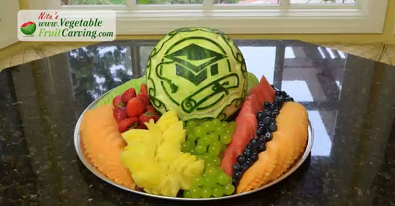 graduation fruit tray nita gill