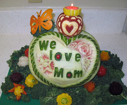 Mother's Day Fruit centerpiece