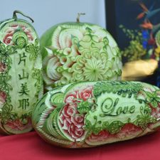 Carved melons at the New Taipei City contest