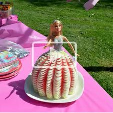 Barbie cake made of fresh watermelon