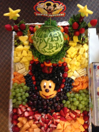 Mickey Mouse fruit tray by Ernestina Memorando
