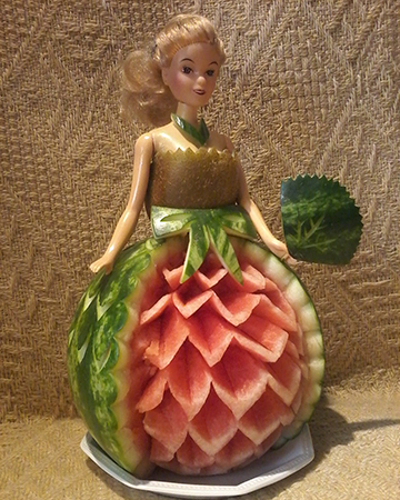 Barbie princess with watermelon skirt by Kate