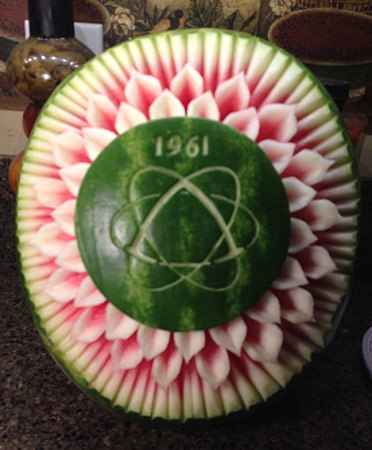 watermelon carving by Bruce Williams