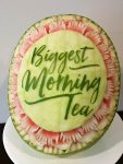 """Morning Tea"" Carved watermelon by Hannah Perryman"