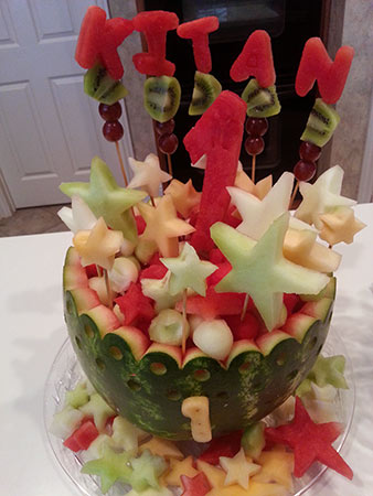 1st birthday watermelon bowl by Hami