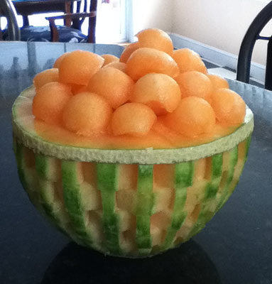 another cantaloupe basket weave melon bowl by Anna Nguyen