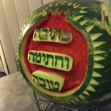 Carved Rosh Hashana watermelon by Chaya Pinski
