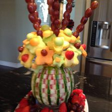 basket weave watermelon arrangement by Julio Di Filippo