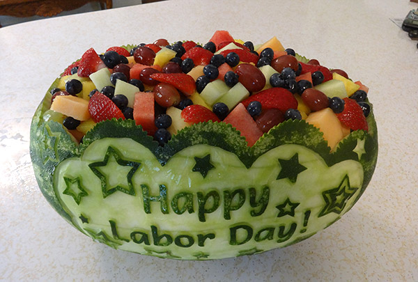 Labor Day watermelon fruit salad by Cindy