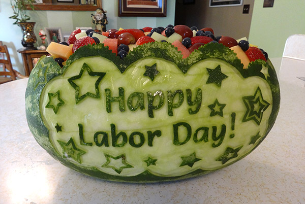 Labor Day watermelon bowl