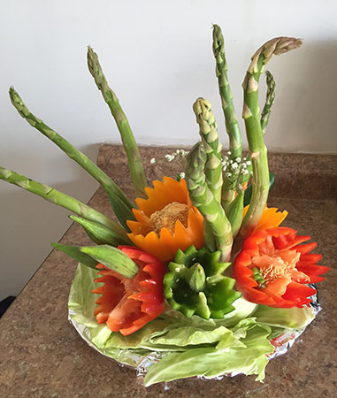 Vegetable Arrangement by Rani Patel