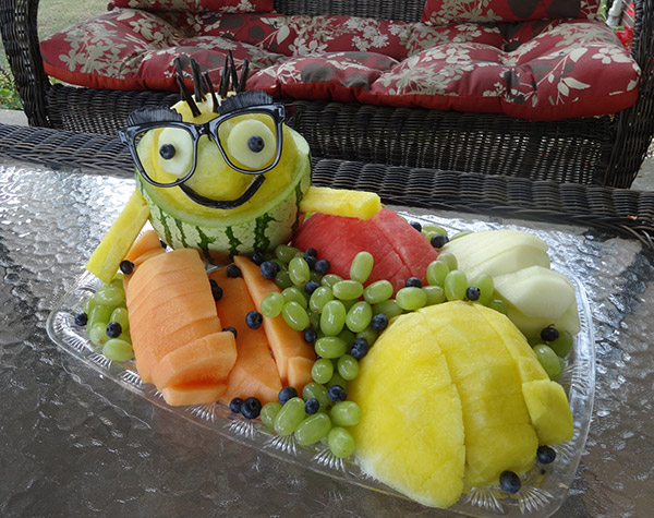 wateremelon minion fruit tray by Cindy Rozich