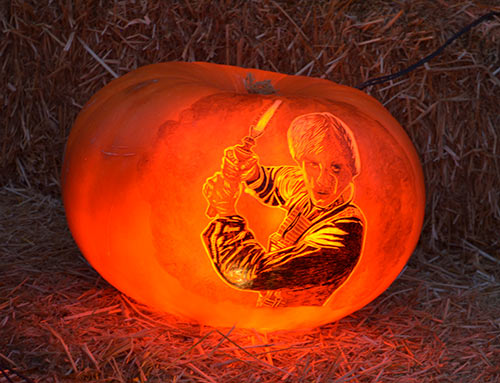 Luke Skywalker pumpkin