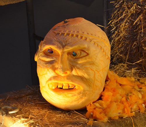 scary head pumpkin