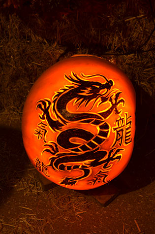 Chinese style dragon pumpkin