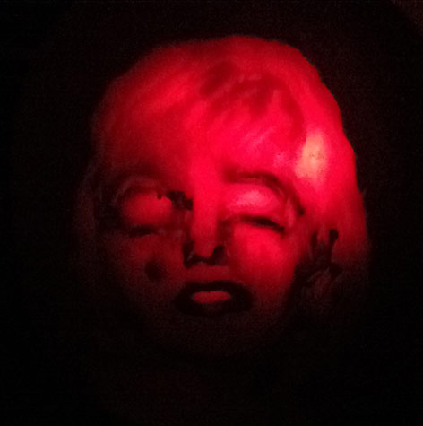 Marilyn Monroe pumpkin portrait carving