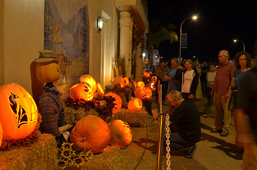 Carved pumpkins at the Self Realization Fellowship in Encinitas - 2015