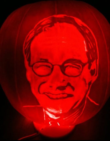 carved pumpkin portrait by Bruce-Williamson
