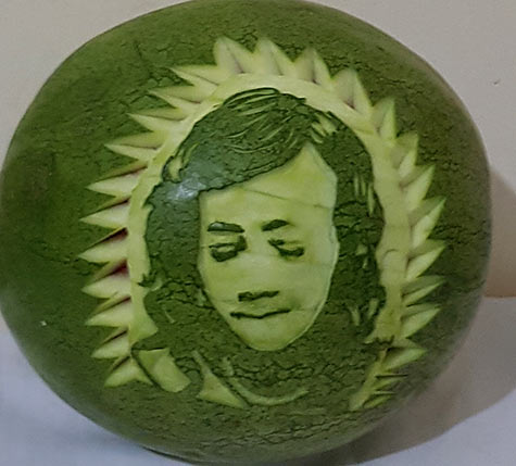 1st Watermelon Portrait created by Anne Swanzy in Ghana