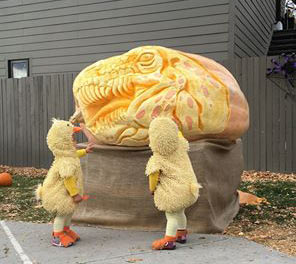 dinosaur pumpkin by Jess Parrish