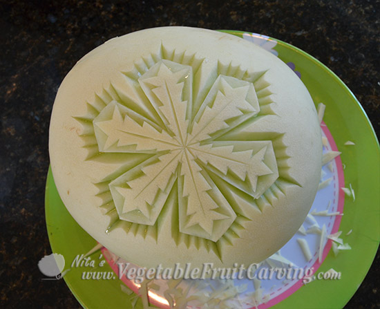 completed points of melon snowflake