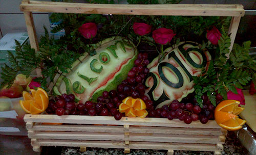 Happy New Year watermelon carvings by Omusugu Henry from Uganda.