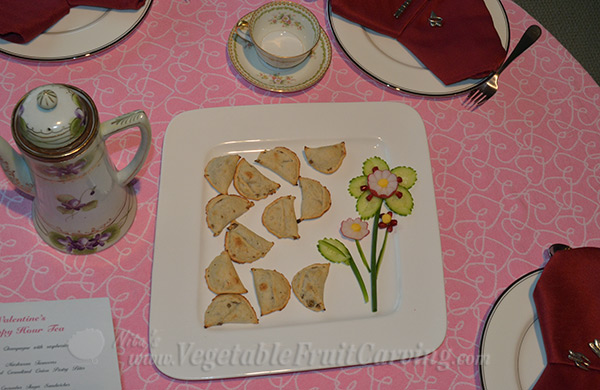 mushroom turnovers with platter decoration