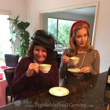 "Drinnking ""Tea"" at the Valentine tea party"