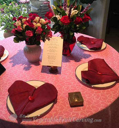 Valentine's tea party table setting