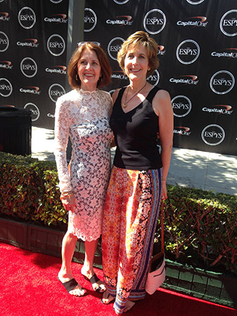 Elland and Nita on the ESPY red carpet