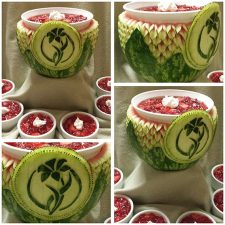 Easter lily watermelon carving