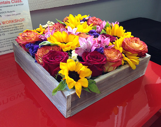 multicolored flower arrangement
