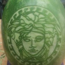 Ric's Versace watermelon carving
