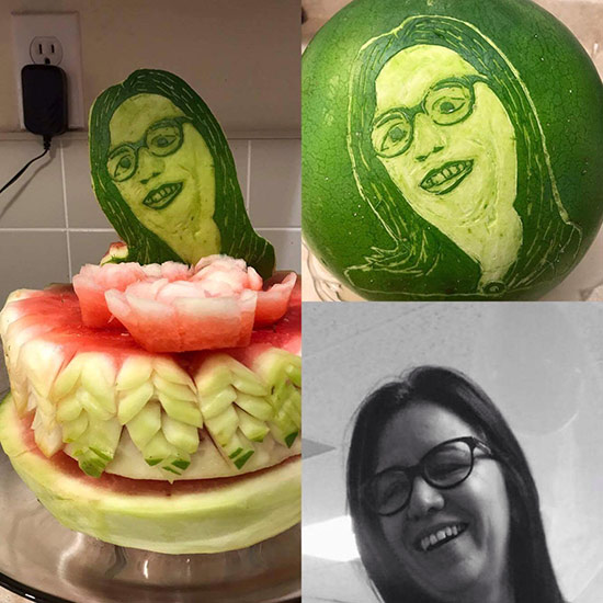 self portrait watermelon by Wilma Silva