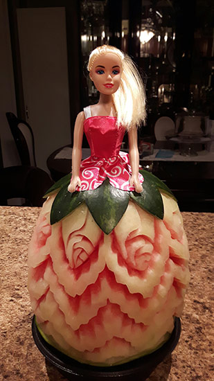 WAtermelon princess carving by Panayiota Thoma