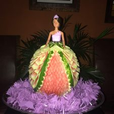one of Iris De La Cruz' princess watermelon carvings-