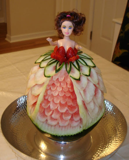 Marcia Geers made this pretty watermelon princess