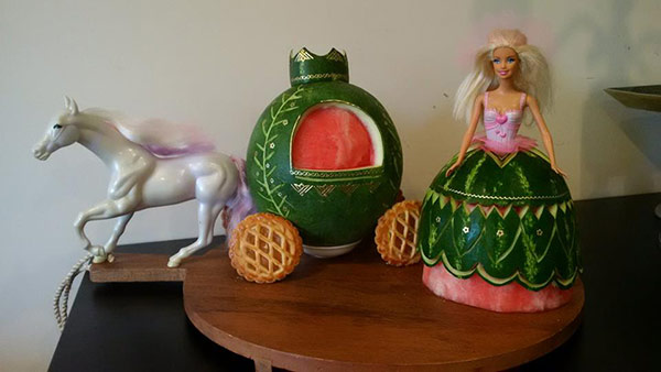 watermelon princess and carriage by hannah perryman1