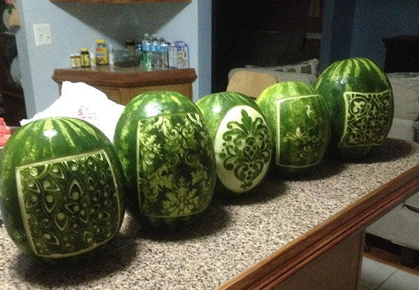5 watermelon lanterns
