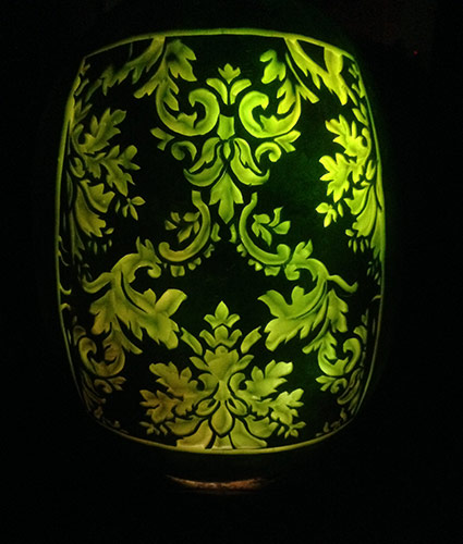 brocade-watermelon lantern by Ernesto Alvarez
