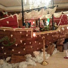 World's Largest Gingerbread Pirate Ship at the Ritz Carlton, Amelia Island